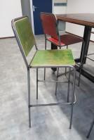 2KICK Barstoel Industrie Gekleurde Rug en Zitting Groen