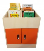 2KICK Boekenbak Oranje Deurtjes Met Plint