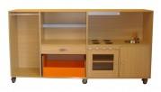 2KICK Daffy XL Keuken Poppen Verkleedkast Hout en Oranje