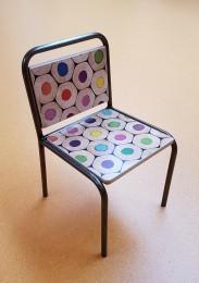 2KICK Kinderstoel Industrie met Potloodprint 2