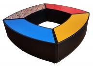 Zitelement Slang Snake Rood Blauw Geel Potllood Print Tegen Elkaar Vierkant Web