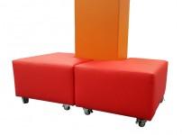 Hocker Hoek Rood Vierkante Pilaar Vrijstaand 675px