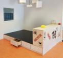 2KICK Speelpodium Under Construction Print Bouwkast Lade Open