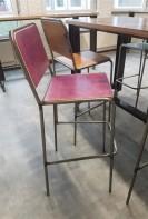 2KICK Barstoel Industrie Gekleurde Rug en Zitting Paars