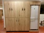 2KICK Wandkast Keuken bestaande uit Trolleykast Ombouw Koelkast Spelletjeskast