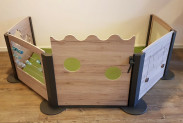 2KICK Grondbox Wandmodel 4 Panelen en Deur met Mat Artikel