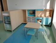 2017 GO KOV Aquamarijn Keukentje Tafel met Krukjes