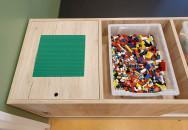 2KICK Duplo Legotafel Met Omkeerbaar Systeem Close Up Legoplaat Artikel