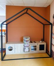 2KICK Daffy Keuken Wasmachine Huishoek Metalen Frame Web