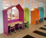 2KICK Houten Studiehuisjes Diverse kleuren 1