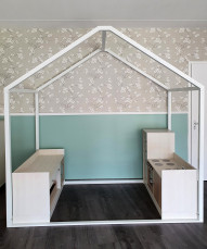 2KICK Huisframe Daffy Keuken Wasmachine Ledikant 120x45x97 cm Web