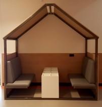 2KICK Huisje Metalen Frame Bankjes in Grijs Boekenbak