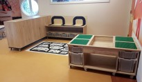 2KICK Daffy Keuken Wasmachine Tafel Play Kruk Sam