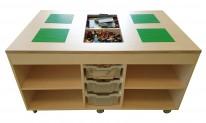 2KICK Staande Lego Tafel Zonder Afdekplaten Open vakken Met Bakken Artikel