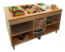 2KICK Staande Lego Tafel Open vakken Met Bakken Geen Afdekplaat Artikel