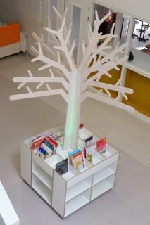 Boom met Verlichting Boekenkast met Boven Boekenbak 2Kick