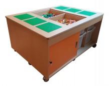 2KICK Staande Legotafel Met Lego Afdekplaat Eraf Deur Open