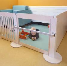 2KICK Grondbox Panelen met Spijlen Spiegel Plexiglas en deur Optrekstang Mat Eazy voedingsfauteuil Close Up Artikel